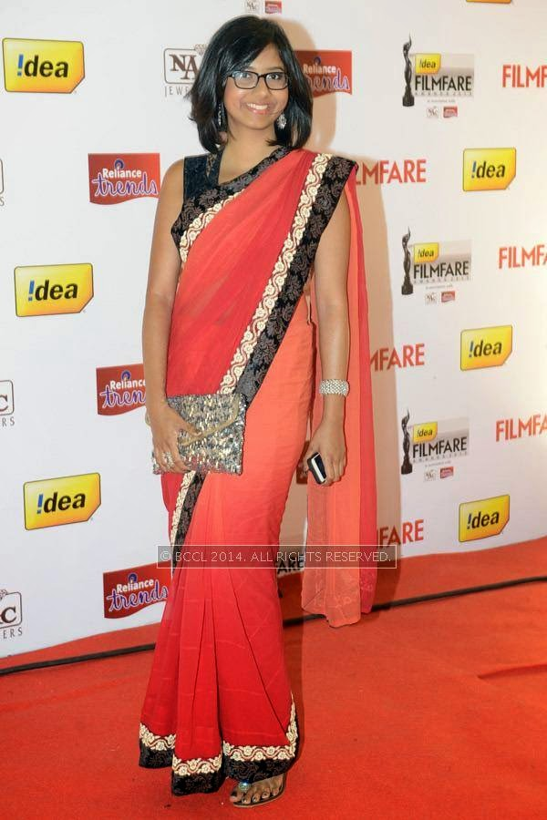 Shakthisree Gopalan during the 61st Idea Filmfare Awards South, held at Jawaharlal Nehru Stadium in Chennai, on July 12, 2014.