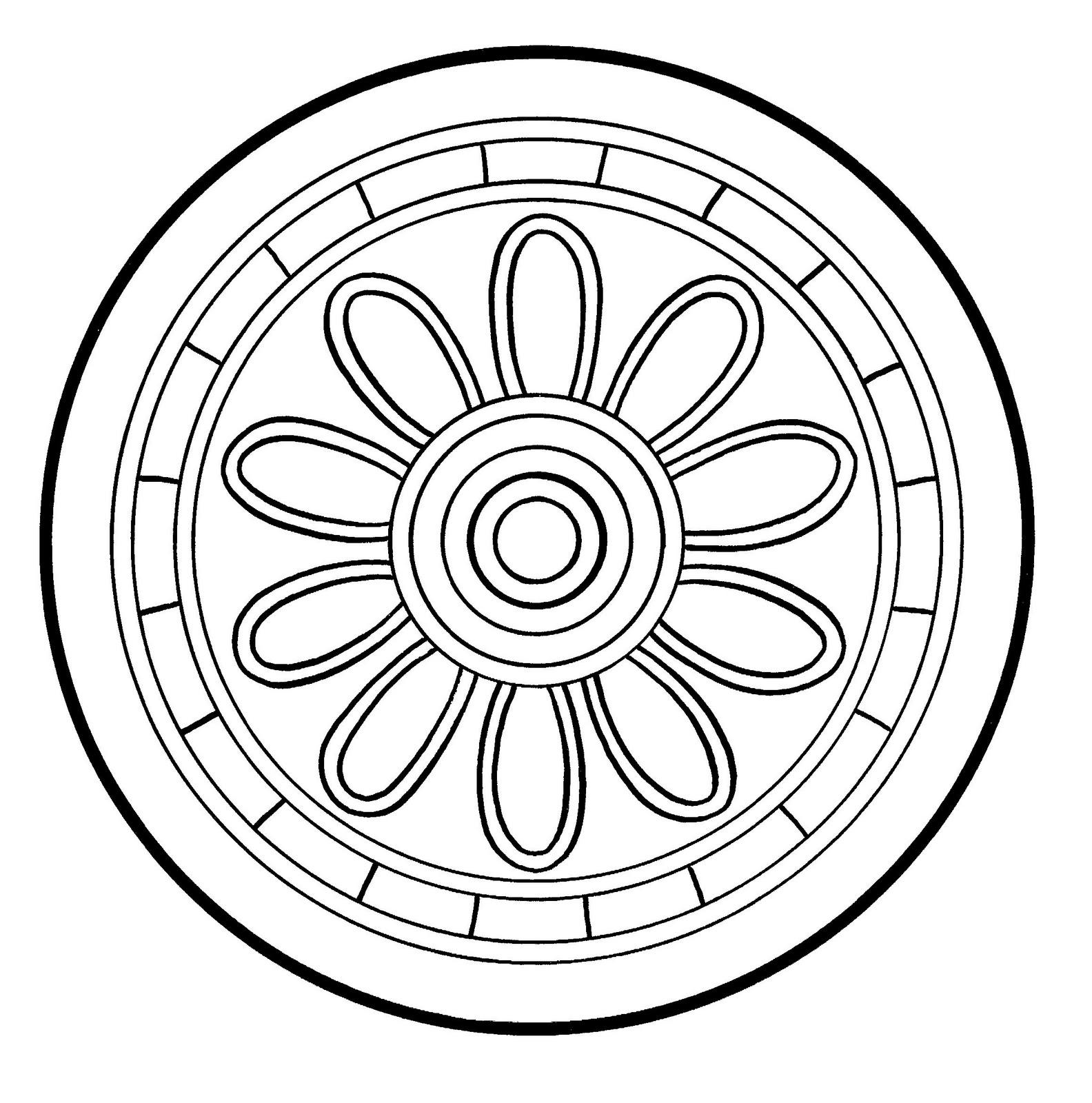 Mandalas Para Pintar: Disco de Bashikah (