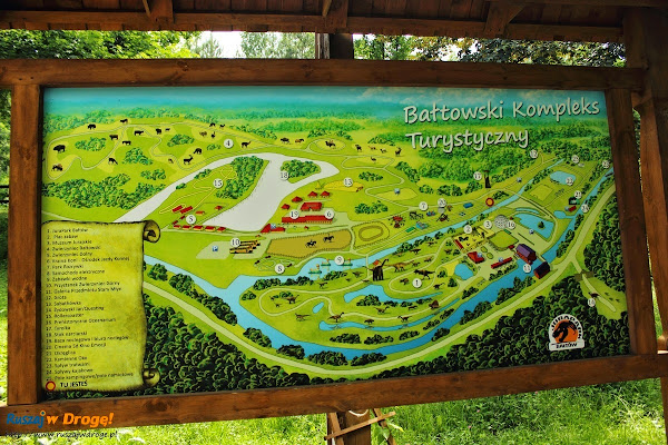 bałtów park dinozaurów - mapa jura parku