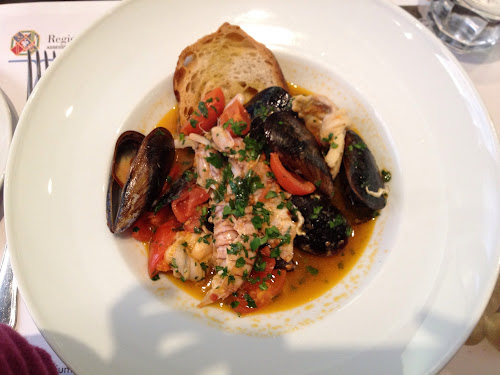deniz mahsülleri yemeği, Enoteca Palatium Roma