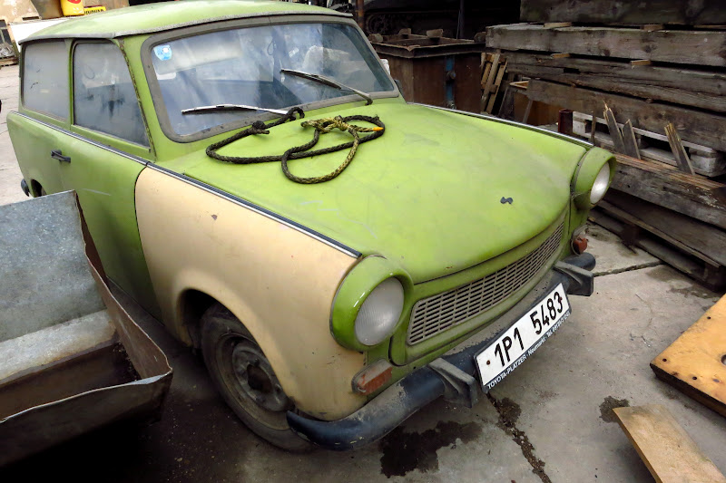 Trabant - East German car made of plastic.