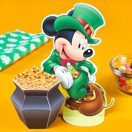 Disney 2012 St. Patrick's Day Papercraft Mickey Mouse Pot of Gold