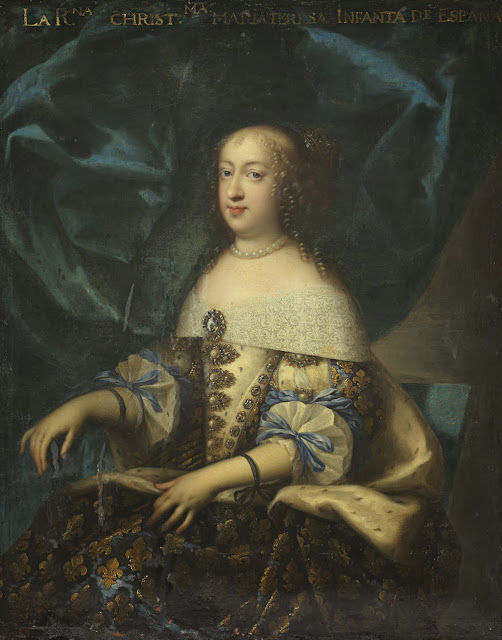 Charles Beaubrun - Portrait of Marie Thérèse of Austria, wife of Louis XIV