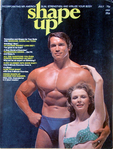 Old school muscle and fitness magazine covers in 1970s