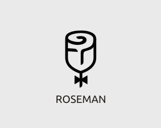 Rose Man Logo