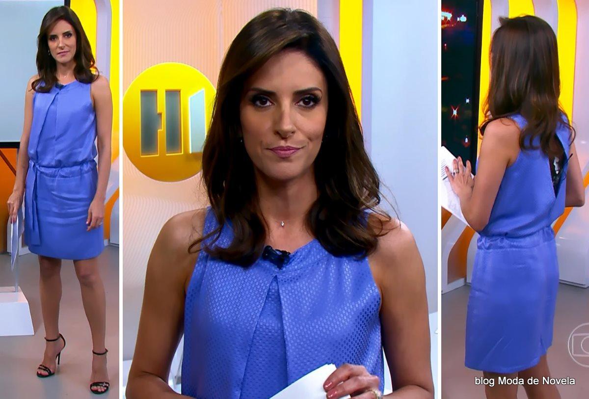moda do programa Hora 1, look da MOnalisa Perrone dia 11 de dezembro