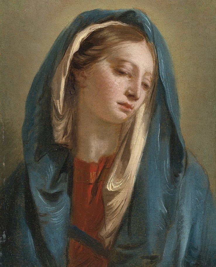 Giovanni Battista Tiepolo - The Madonna facing forward
