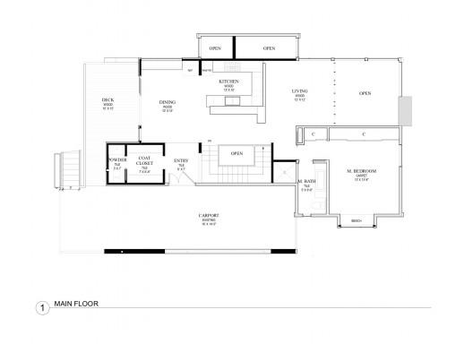Обновяване на къща в Сиатъл - план на къщата