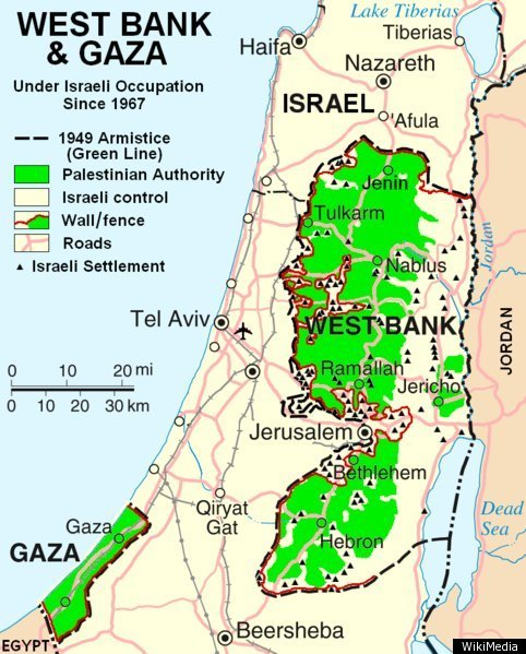 Map of Palestine - Israel 2011
