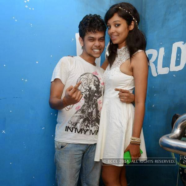Manish poses with Santana during a party organised at Small World pub in Chennai.