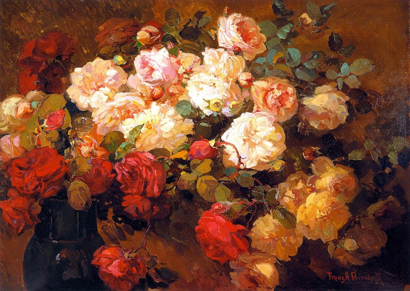 Franz Bischoff - A Bouquet of Roses