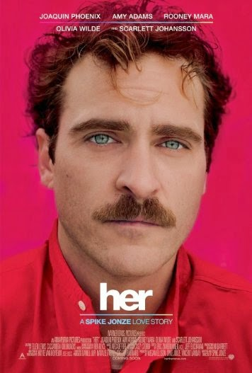 Poster Of English Movie Her (2013) Free Download Full New Hollywood Movie Watch Online At Alldownloads4u.Com