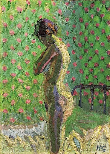Harold Gilman - Nude standing by a Bed