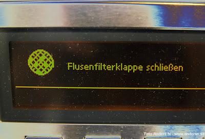 torktumlare, tvättstuga, tysk, flusenfilterklappe, luddfilter, luddfilterlucka