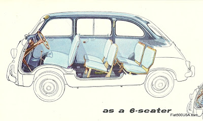 Fiat 600 Multipla 6 seats
