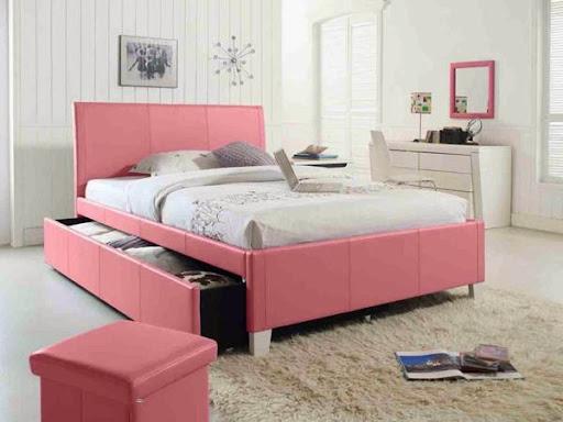 Những mẫu giường ngủ độc đáo cho cô nàng yêu màu hồng-2