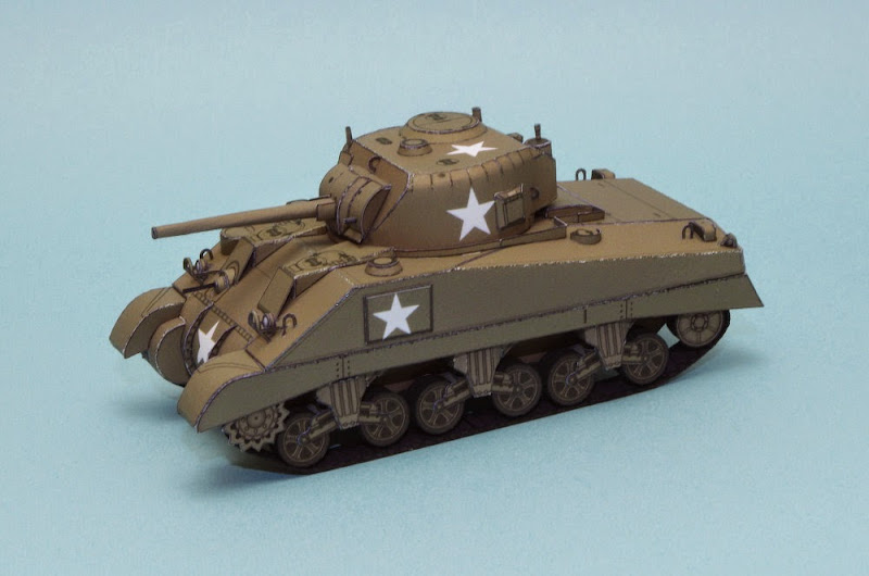 M4 Sherman Papercraft