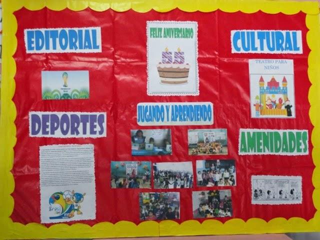 I e 1177 h roes del cenepa presentacion de periodico mural for Editorial periodico mural