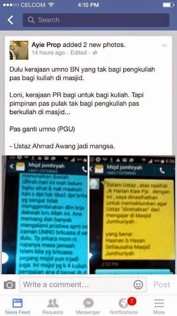 Betul Pas Selangor Halang Ustaz Ahmad Awang Ceramah?