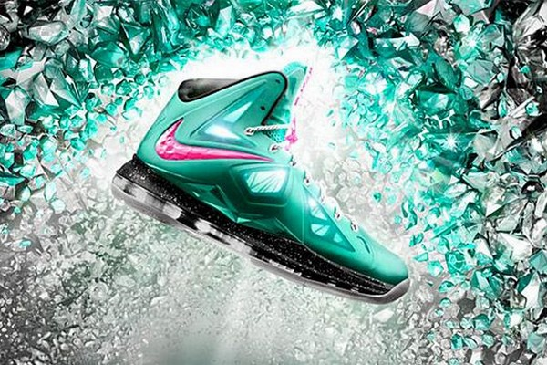 Preview of Nike LeBron X iD in South Beach 038 Sprite Colors