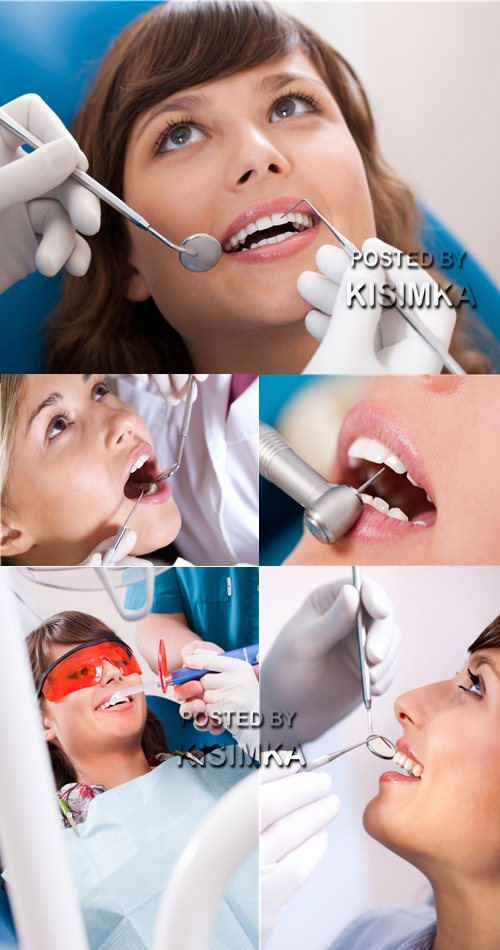 Stock Photo: On reception at the dentist