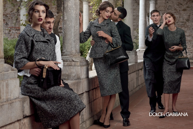 *戲劇性的拍攝手法:Dolce & Gabbana 2013秋冬形象照 3