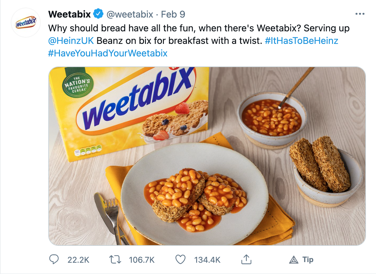 weetabix social media post