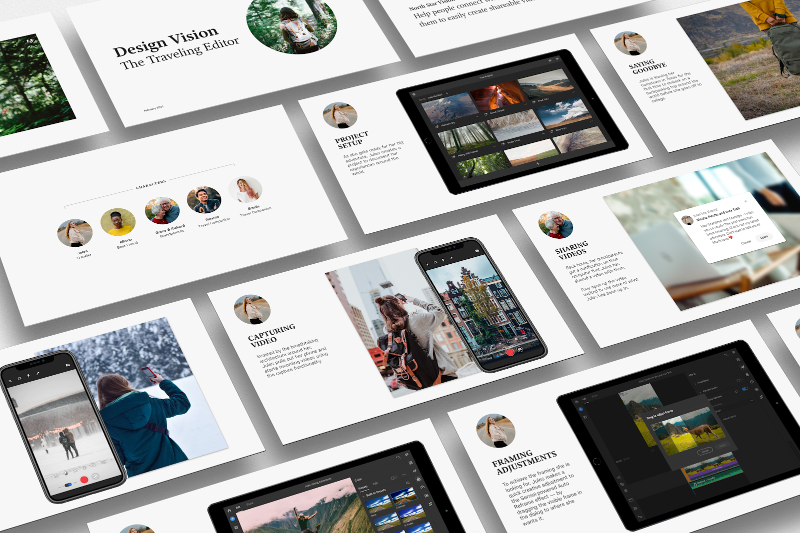 An example of a design vision story presentation in the format of a slidedeck.