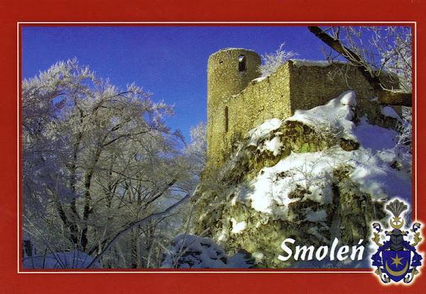 zamek smoleń pocztówka
