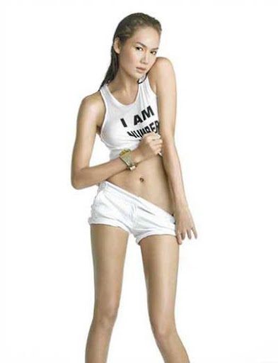 Asian Model Ruijira Chuaykuae white wear