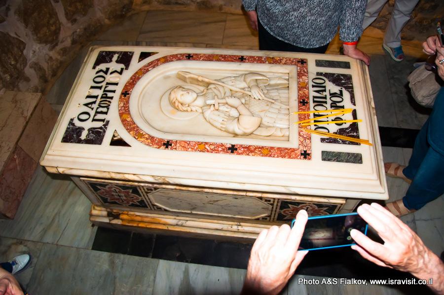 Гробница Георгия Победоносца в крипте церкви в Лоде. Экскурсия Светланы Фиалковой.
