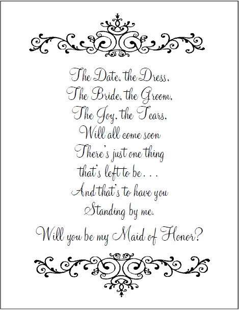 Maid Of Honor Invitation Wording with amazing invitation example