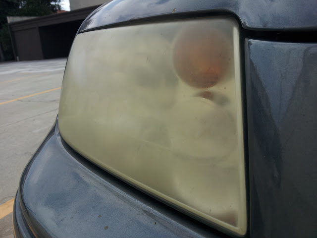 how to make old headlights clear