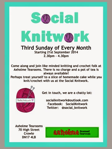 knitting crochet poster of social knitwork crowle 3rd sunday of the month
