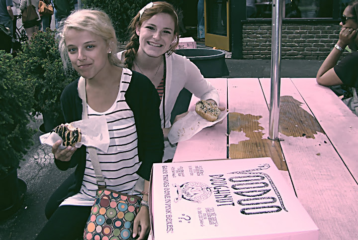 happy doughnut hipsters