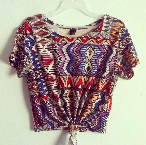 Inspiração: estampa étnica - camiseta cropped
