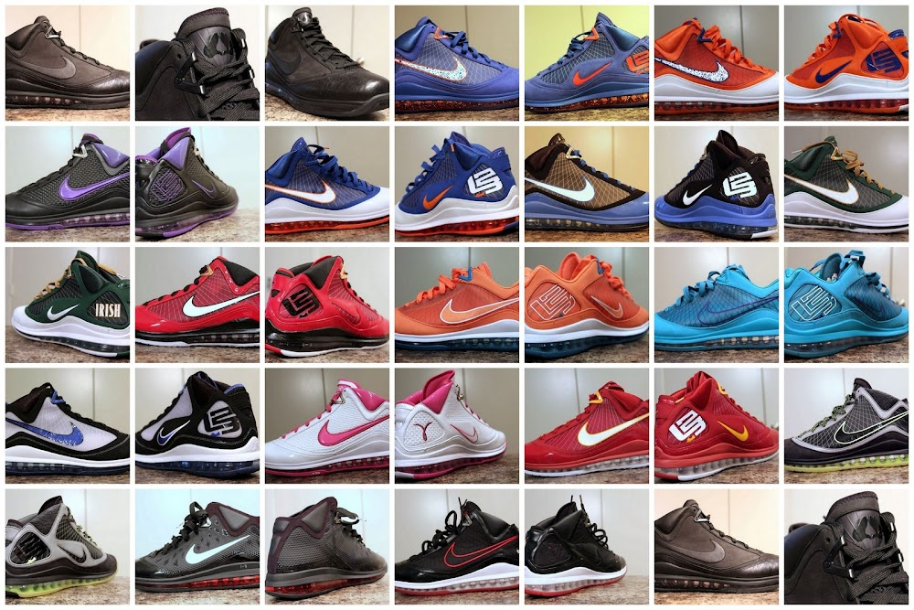 Nike Air Max LeBron VII 8211 Unreleased PEs amp Samples Collection 54fbca699046