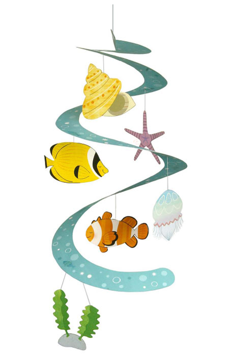 String Decoration Sea Creatures Papercraft