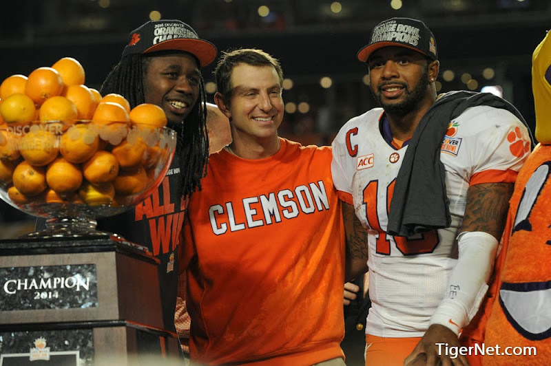 Orange Bowl - Interception and Celebration Photos - 2014, Bowl Game, Dabo Swinney, Football, Ohio State, Sammy Watkins, Tajh Boyd