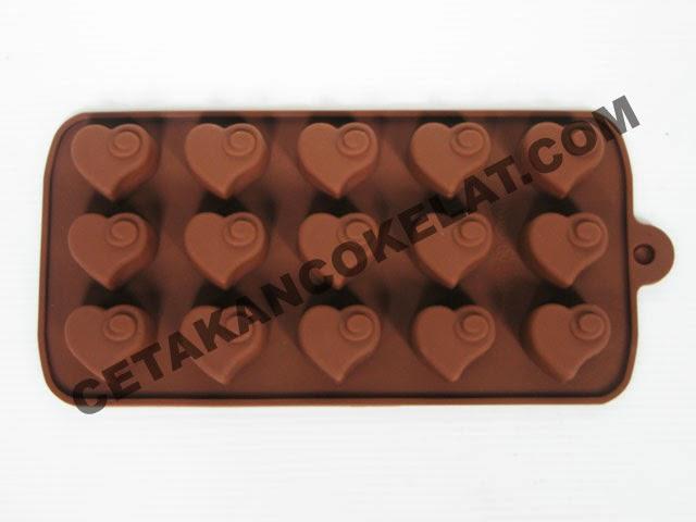 cetakan coklat love silikon SIL019 SIL19