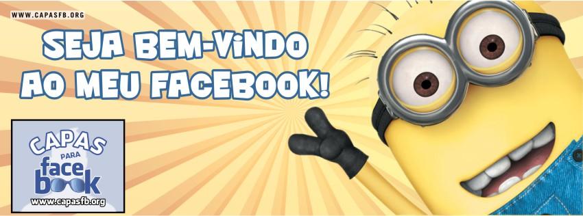 Capas para Facebook Seja bem-vindo