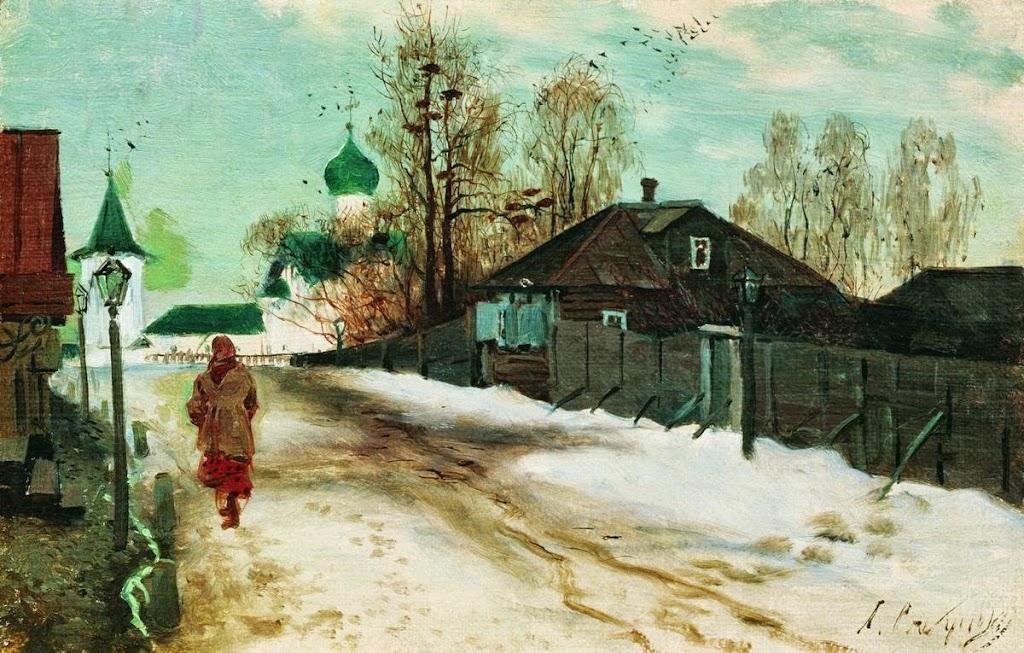 Andrei Ryabushkin - St. Michael Street in Novgorod
