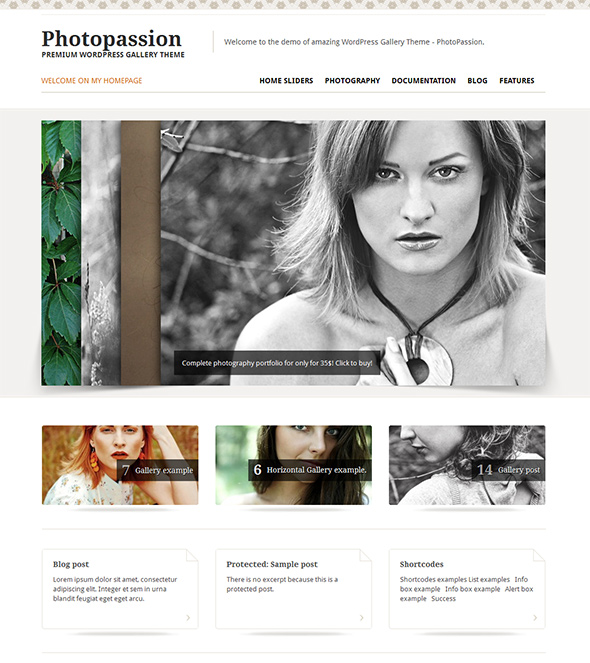Photopassion Portfolio WordPress Theme