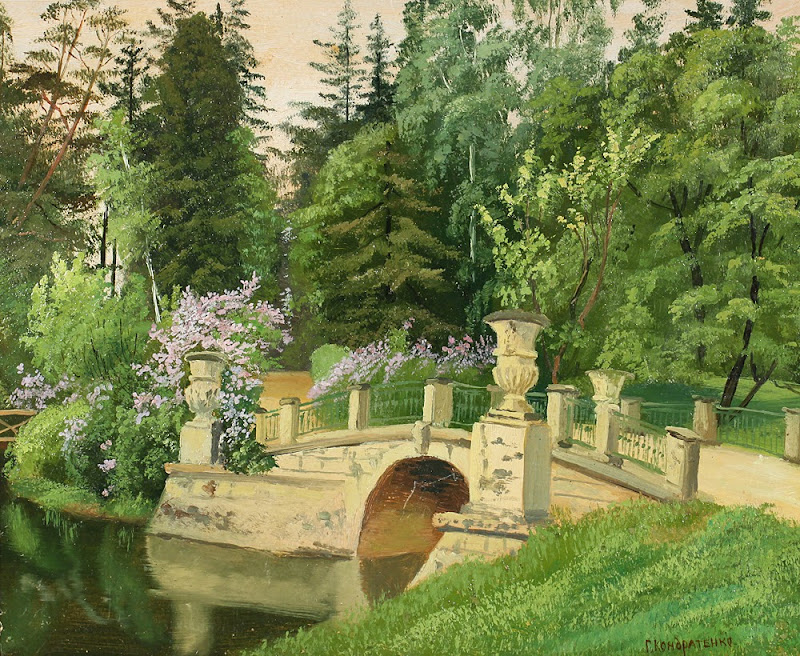 Gavril Kondratenko - Bridge in Pavlovsk Park, 1897