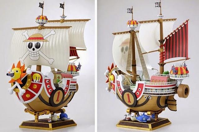 Các chi tiết tin xảo, sắc nét tạo nên mô hình Thousand Sunny One Piece thật hoàn hảo