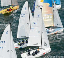 J/70s sailing SPI Ouest France Regatta