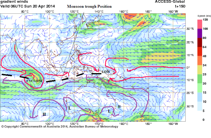 Monsoon trough 20th april 2014