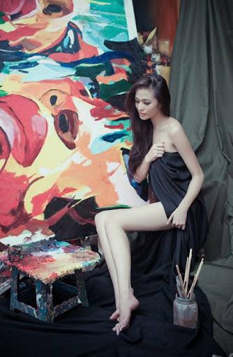 Hoa hau Ao dai hoa than nguoi mau nude IMG2659, girl xinh, gai xinh, gai xinh, anh girl xinh,  Ngắm Khánh My khoe chân dài dáng chuẩn