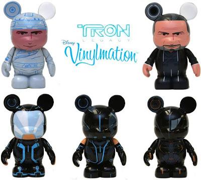TRON Legacy Disney Vinylmation Series - Original TRON Kevin Flynn, Older Kevin Flynn, Sam Flynn, Quorra & Rinzler Vinyl Figures