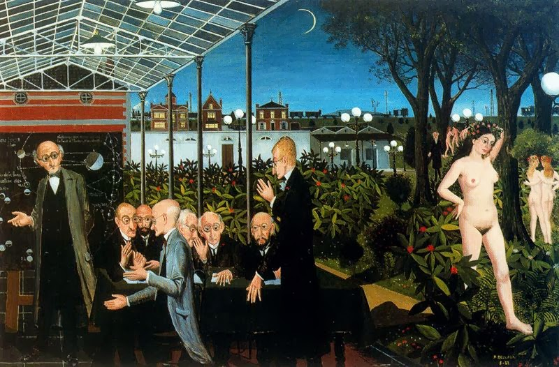 Paul Delvaux - Astronomers, 1961